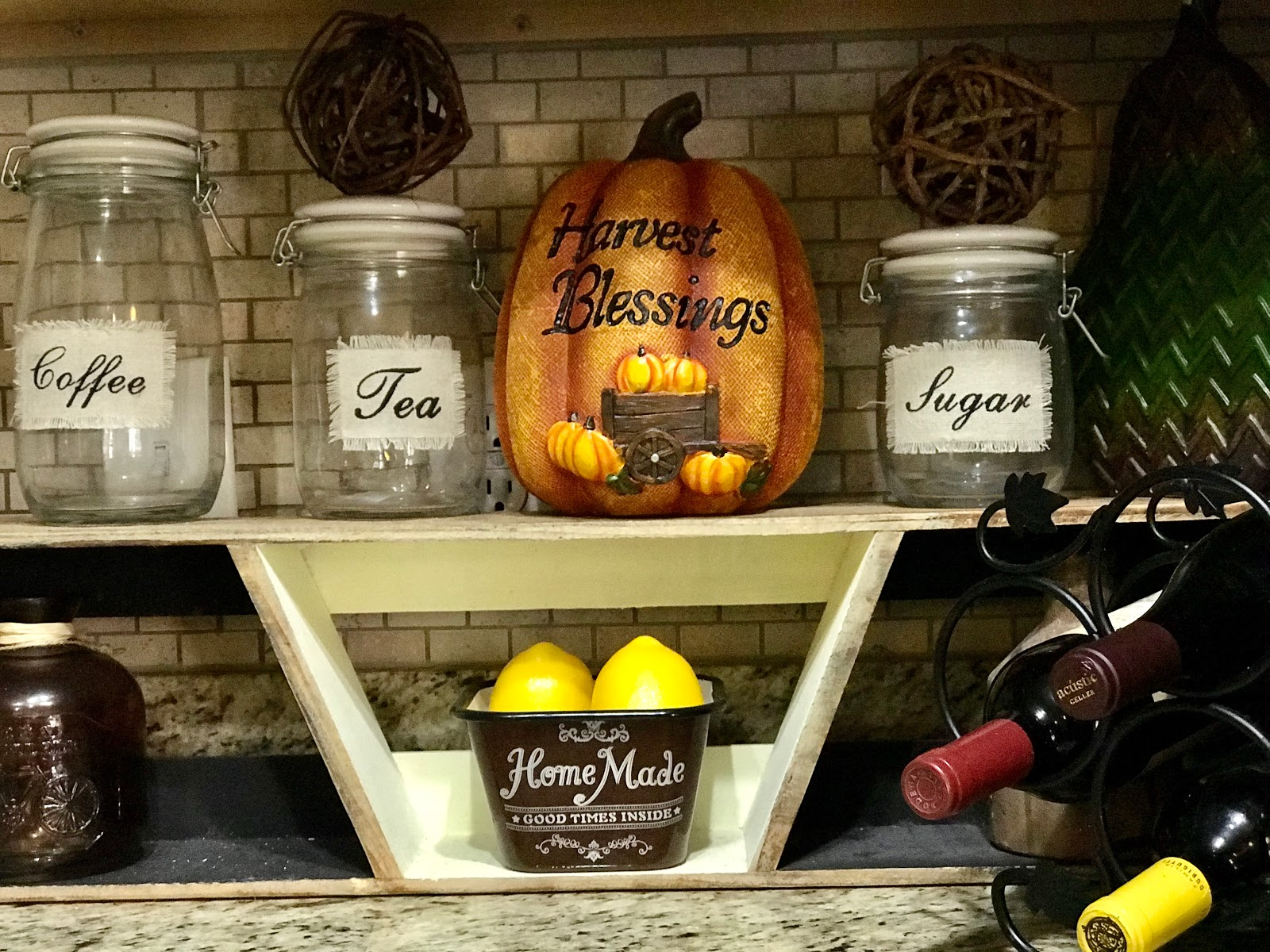 Image: Pumpkins used to decorate the kitchen for the holidays