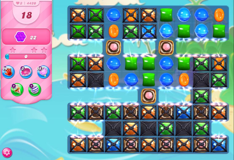 Candy Crush Saga level 4420