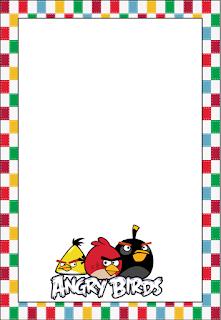 Marcos, Invitaciones, Tarjetas o Etiquetas de Angry Birds para Imprimir Gratis.