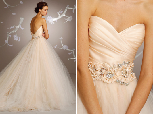 Stunning Wedding Dresses In Beige And Blush: A Little Bit Of Sparkle And A Whole Lot Of Sass: Wedding