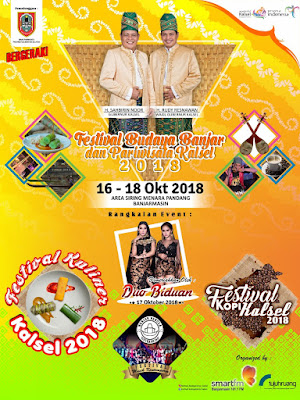 Catat, 16 – 18 Oktober Ada Festival Budaya dan Pariwisata Kalsel 2018