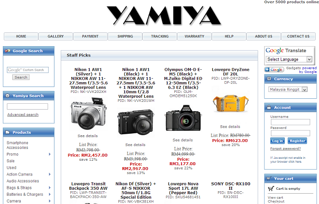 Review Yamiya - Malaysia Online Photography Equipments Store
