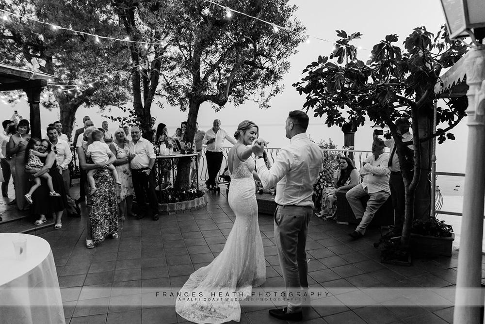 Wedding party in Positano
