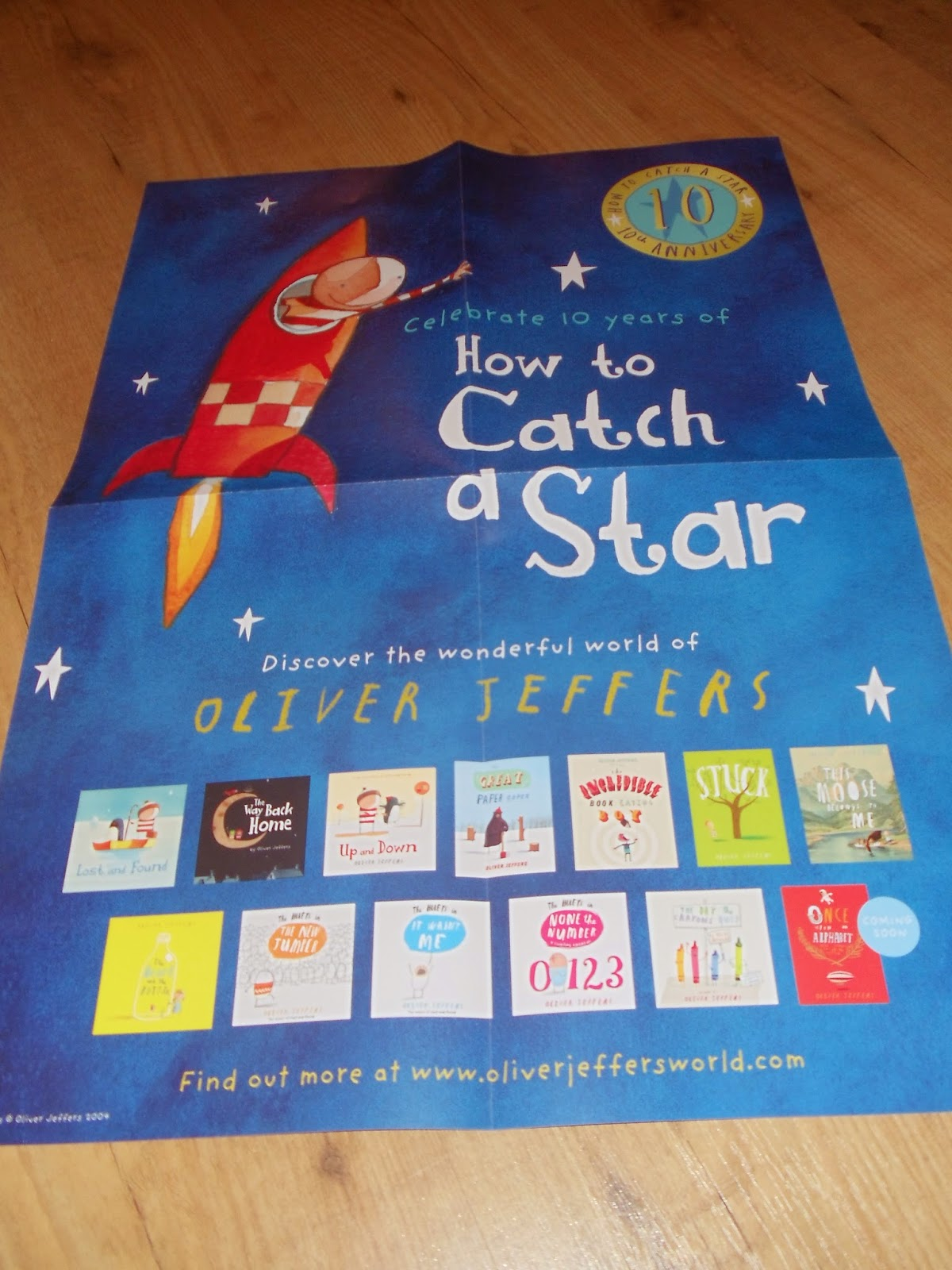 How To Catch A Star by Oliver Jeffers Book poster