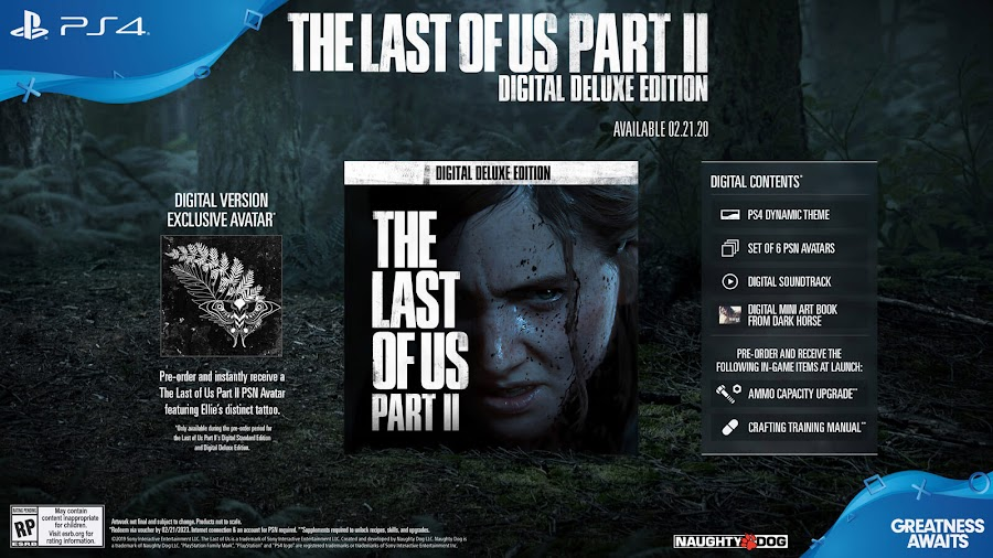 last of us part 2 digital deluxe edition ps4 naughty dog sony interactive entertainment