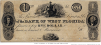 Undated one-dollar note, Bank of West Florida.