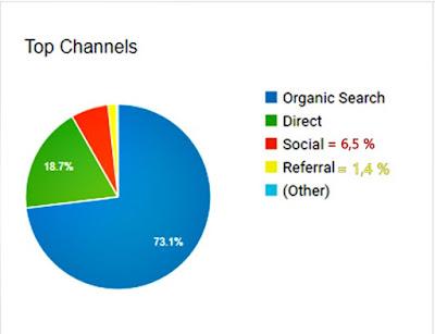 sumber trafik blog berdasarkan google analytic