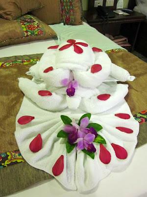 Tortugas hechas con toallas en Costa Rica