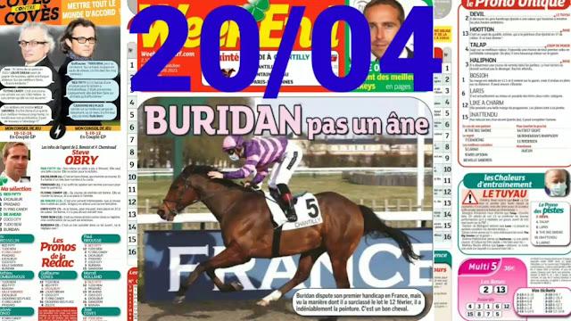 Pronostic quinté+ pmu du Mardi Paris-Turf TV - 100 % 20/04/2021
