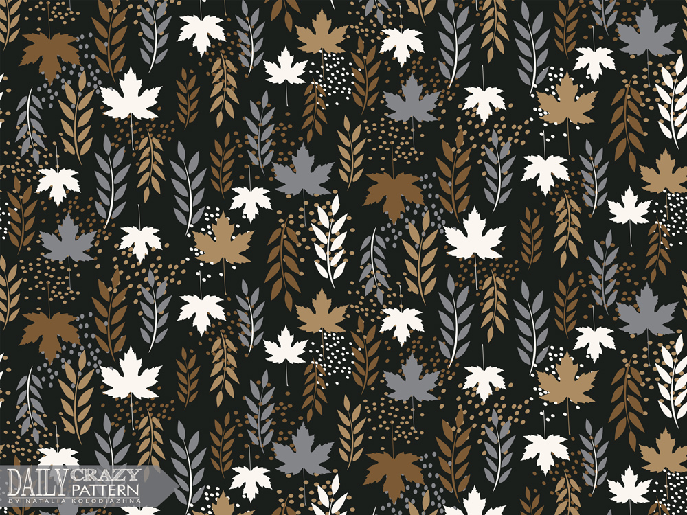"Impressive floral pattern with leaves for ""Daily Crazy Pattern"" project"