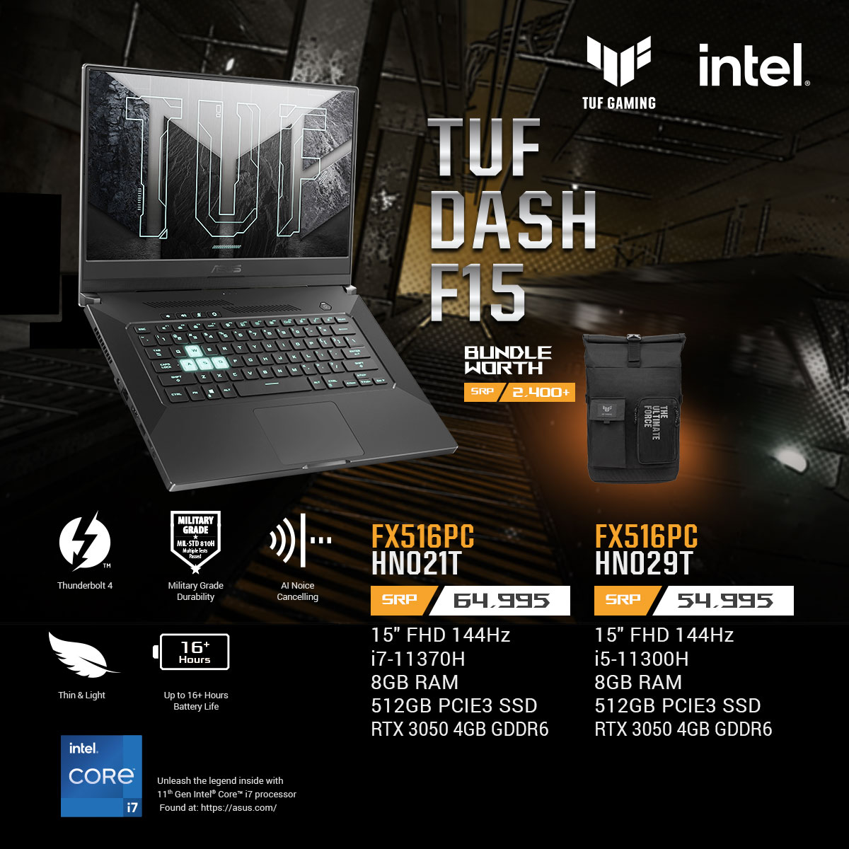 TUF Dash F15 Key Features and Price