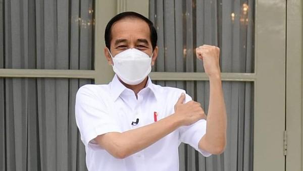 Kesan Jokowi Divaksin Corona: Ndak Terasa Saat Suntik, Setelah 2 Jam Agak Pegal