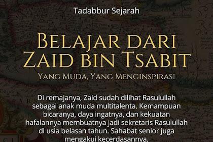 Belajar dari Zaid bin Tsabit