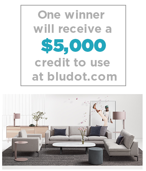 Elle Decor is giving away a shopping spree worth $5000 to use at BluDot.com so you can totally transform your space!