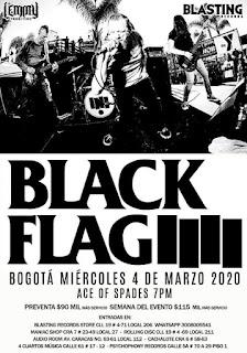 Concierto de BLACK FLAG en Bogotá 2020