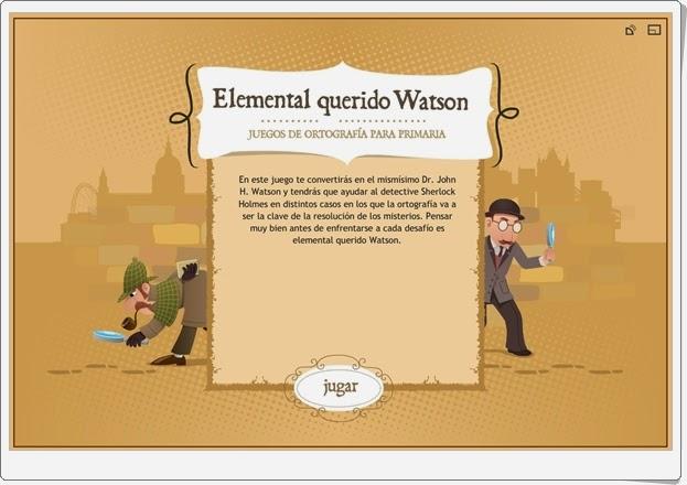 """""""Elemental querido Watson"""" (Juego de ortografía)"""