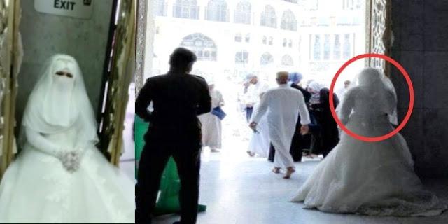 Pengantin Wanita Ini Dilarang Masuk Ke Masjidil Haram. Lihat Videonya