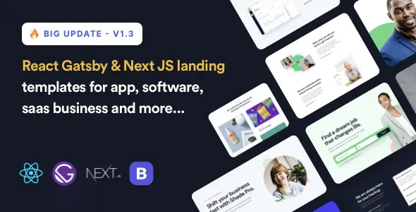 Best React Gatsby & Next Landing Page Template
