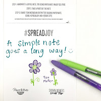 spread joy sample note