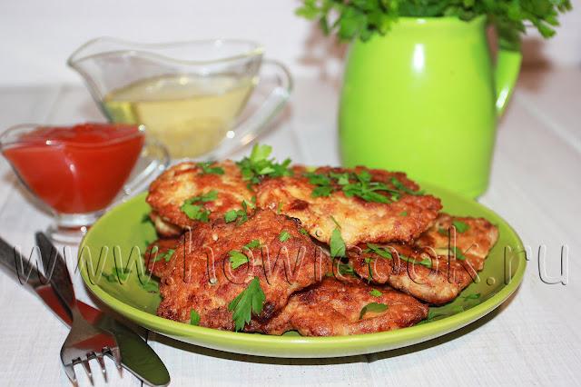 рецепт рубленых мясных котлет