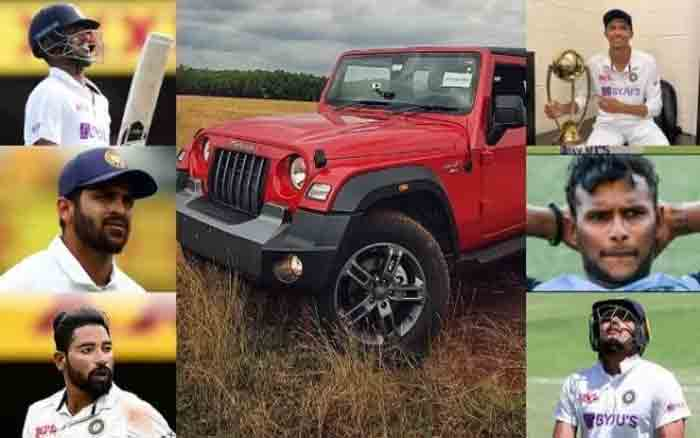Anand Mahindra announces THAR SUV as gift for Team India players who debuted on Australia tour, Mumbai, News, Cricket, Cricket Test, Vehicles, Compensation, National, Sports