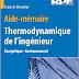Aide-mémoire de thermodynamique de l'ingénieur - Énergétique, Environnement PDF