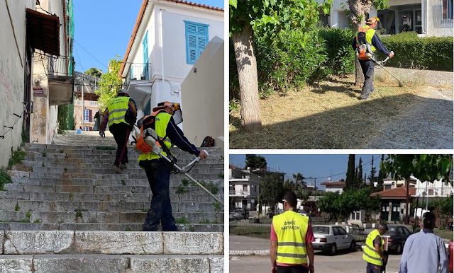 Συνεχίζονται οι επιχειρήσεις καθαρισμού σε περιοχές του Δήμου Ναυπλιέων