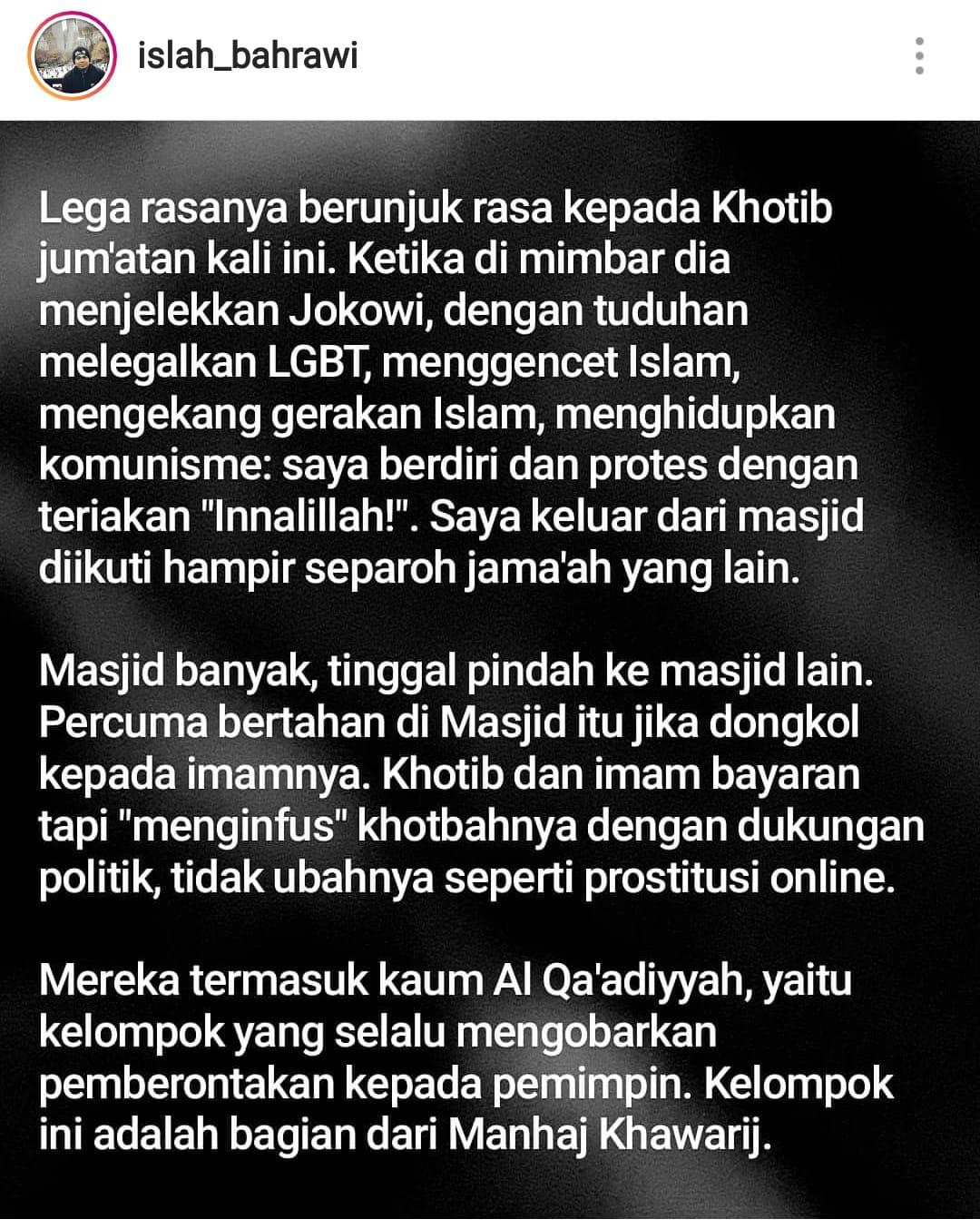 Politisasi Masjid