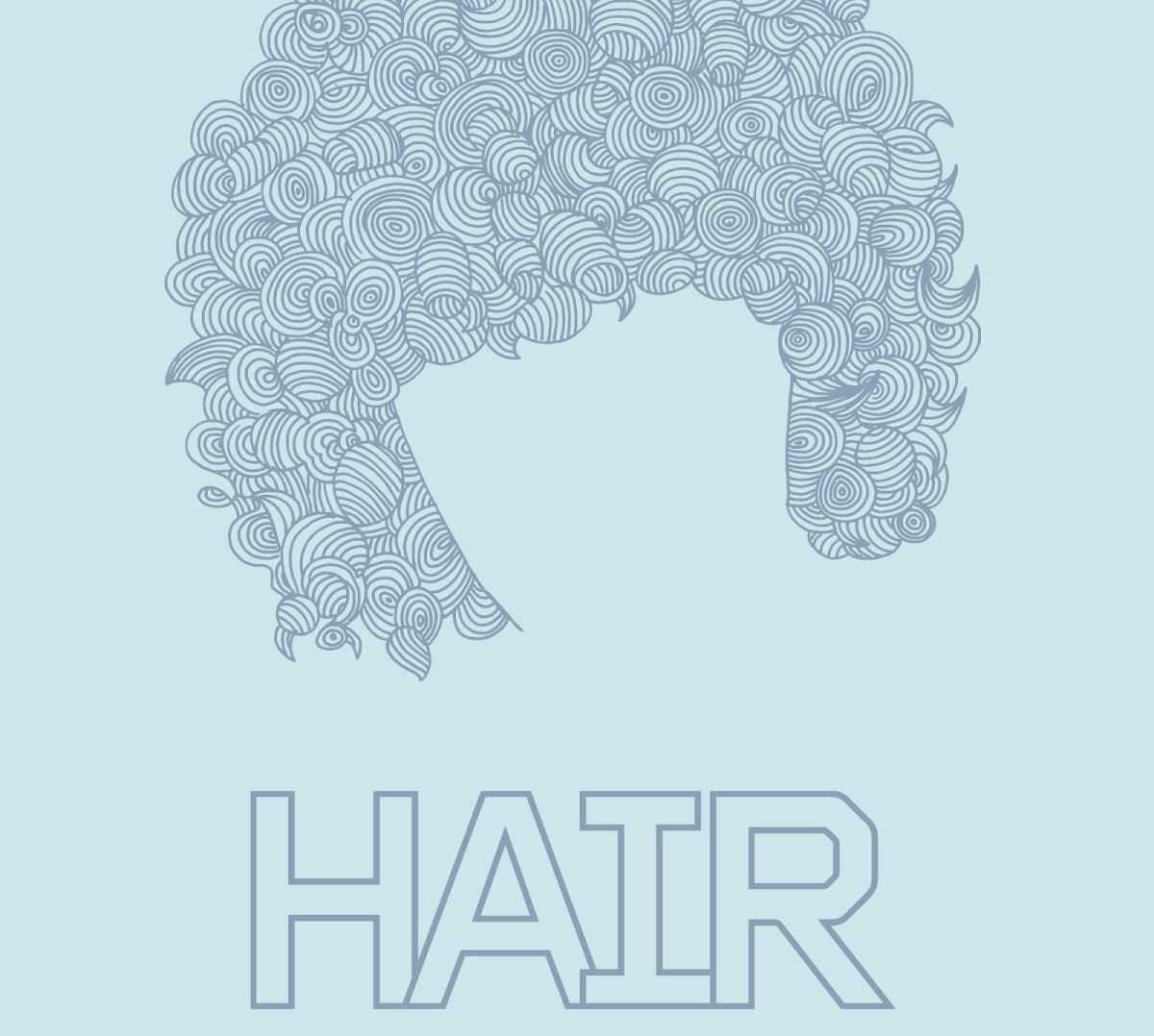 Illustration of Hair and text logo