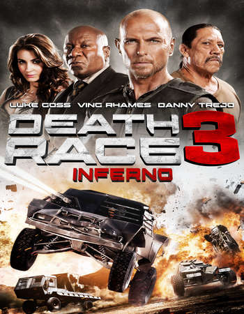 Poster Of Death Race Inferno 2013 Dual Audio 450MB BRRip 720p ESubs HEVC Free Download Watch Online downloadhub.net