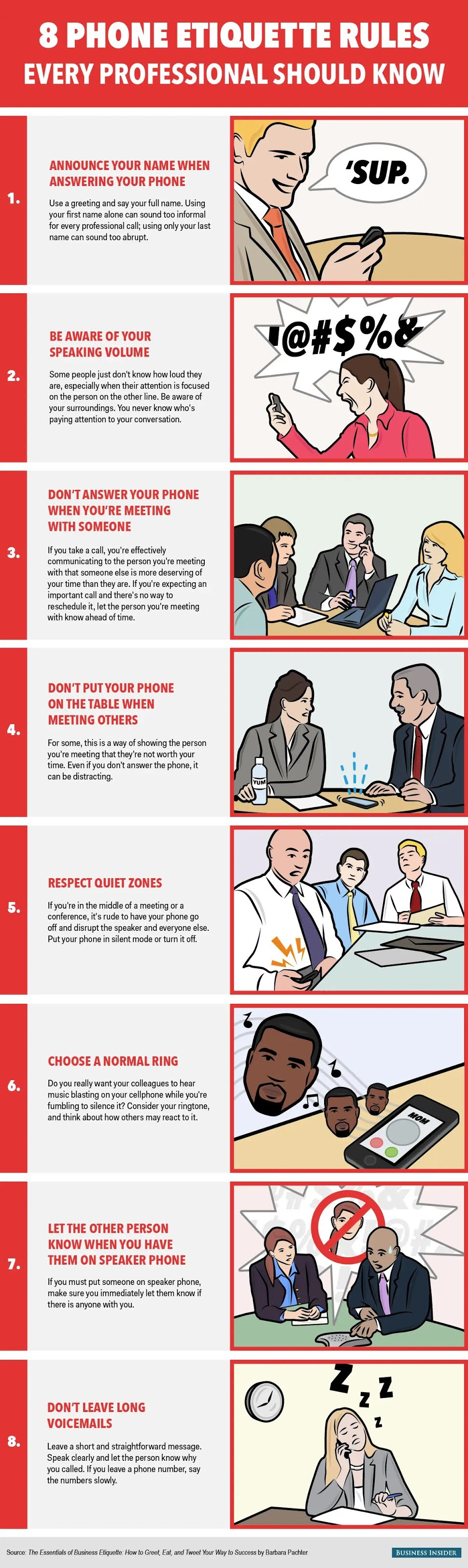 8 phone etiquette rules every professional should know #infographic #Phone etiquette #Cell Phone #infographics #Phone etiquette rules