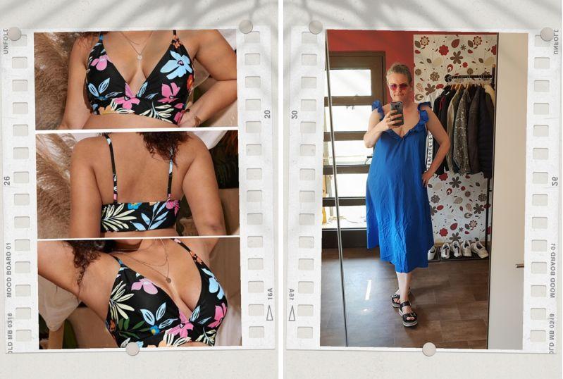 Bügelloses Bikinitop unter Sommerkleid