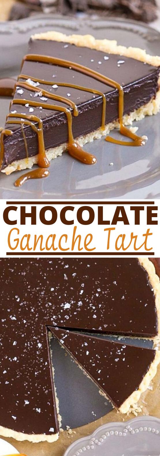 Dark Chocolate Ganache Tart #chocolate #desserts #baking #tart #pie