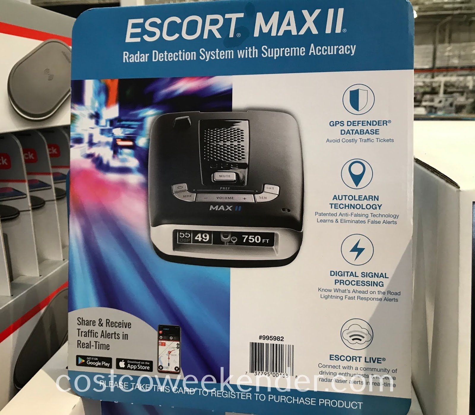 Avoid costly traffic tickets with the Escort Max II Radar Detector