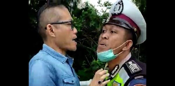 Pengemudi Mobil Yang Ajak Polisi Berkelahi Saat Ditilang Ditangkap