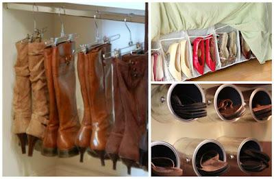 12 ideas ingeniosas para organizar y guardar nuestros for Perchas para colgar botas