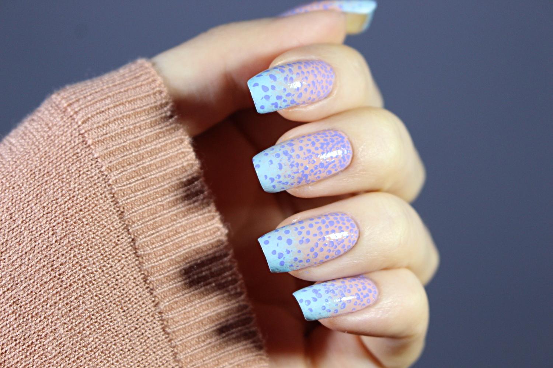 cute pastel nails close up