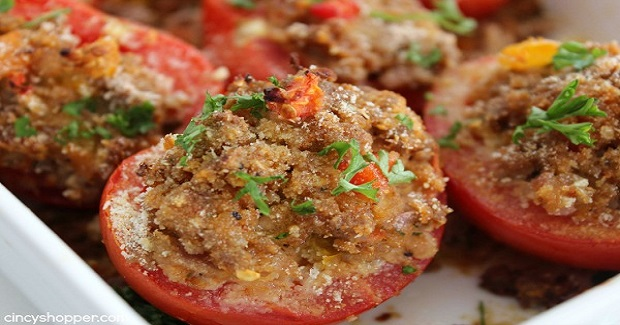 Ground Pork Stuffed Tomatoes Recipe