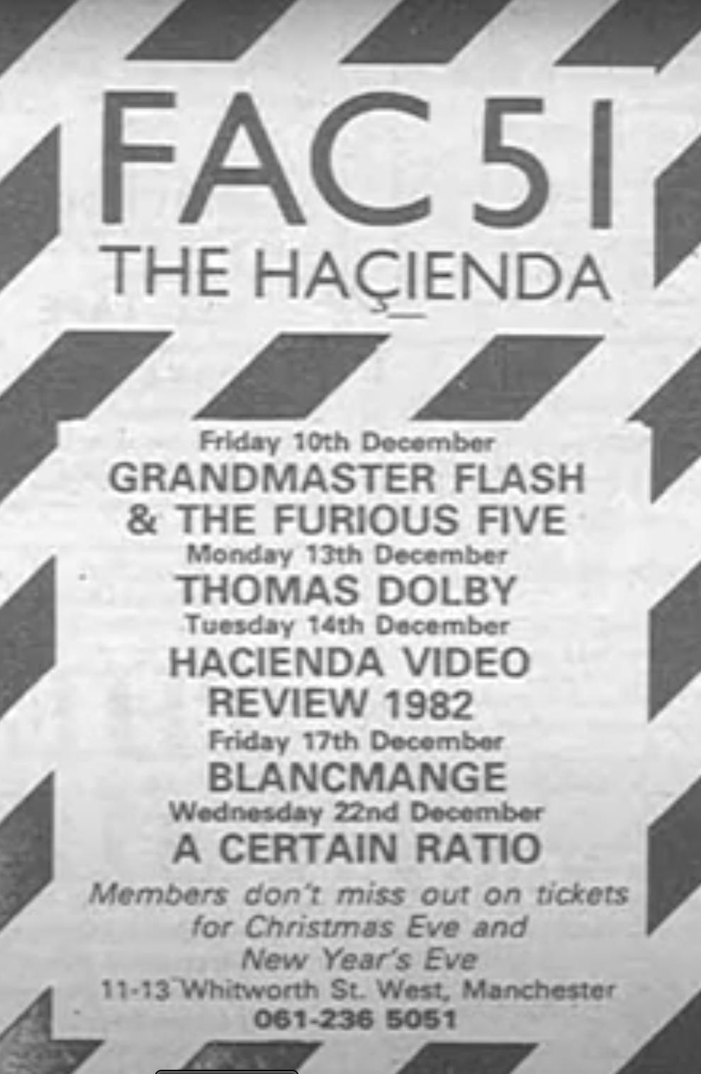 22 Dec 1982, The Haçienda, Manchester - ACR Gigography