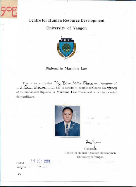 Diploma in Maritime Law