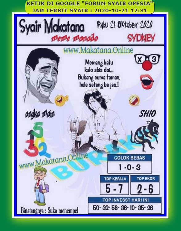 Kode syair Singapore Rabu 21 Oktober 2020 84