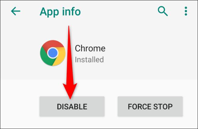Android تعطيل Chrome