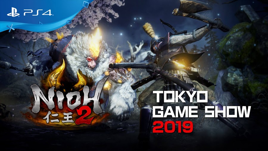 nioh 2 gameplay demo footage ps4 tokyo game show 2019 new boss fight
