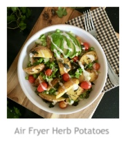 Air Fryer Herb Potatoes at Pieced Pastimes