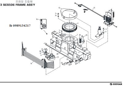 Khung, quay toa của Cẩu soosan 5 tấn SCS513-SCS514-SCS505-SCS506