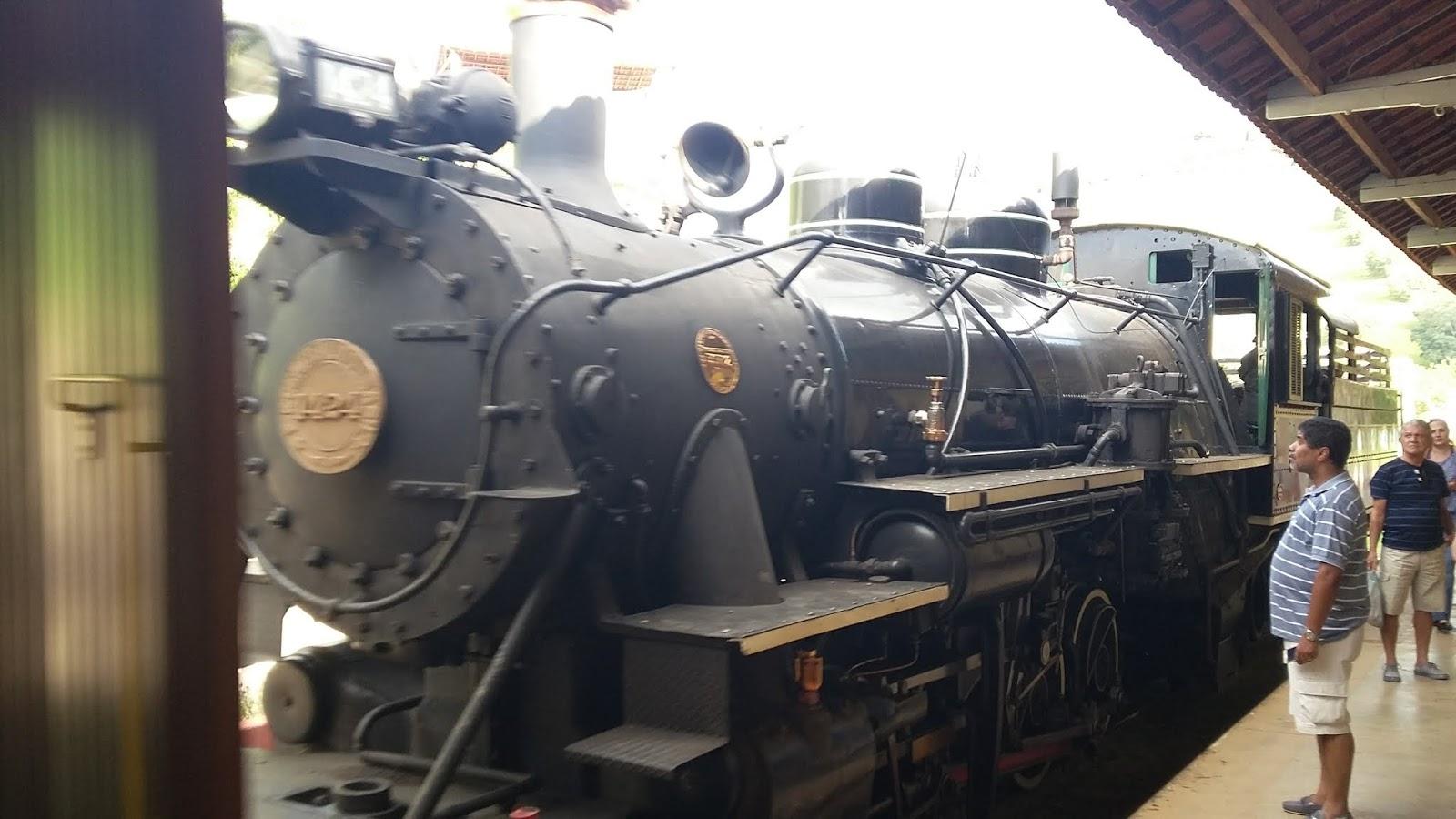 Locomotiva na Estação de Soledade de Minas