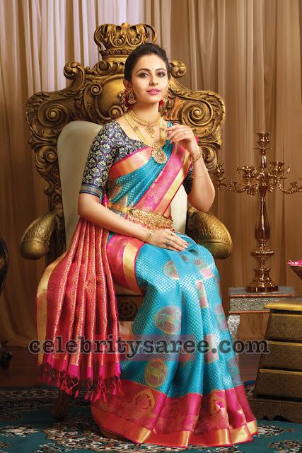 Rakul Preet Singh Rich Silk Saree