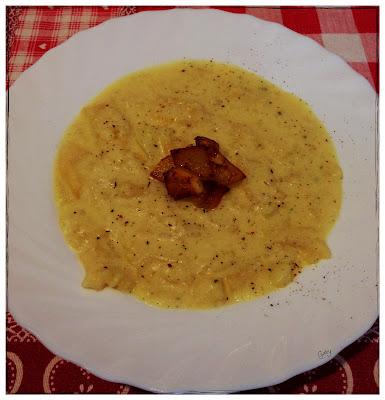 Rivisitazione di pasta e patate con fonduta di provola