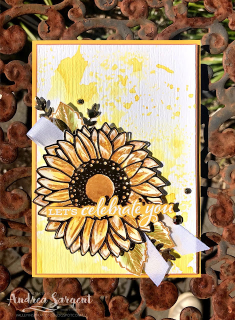 Crushed Curry Celebrate Sunflowers Stampin Up card, Andrea Sargent, Independent Stampin' Up! Demonstrator, South Australia