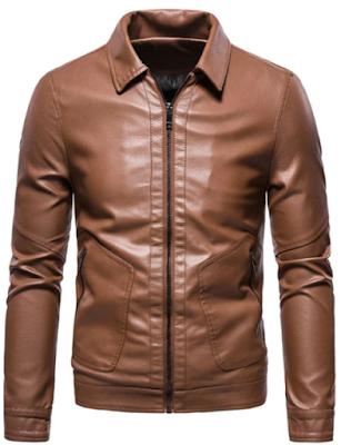 PU Leather Zip Pocket Jacket